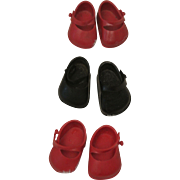 Three Pair of Marked Ginny Shoes