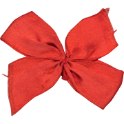 Vintage Original Ginny Red Hair Bow with Barrette
