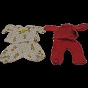 Two Pair Vintage Small Adorable Pajamas-No Ship