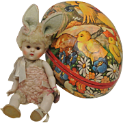 1950 Vogue Crib Crowd Easter Bunny in Easter Egg