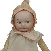 "6 1/2"" Antique Googly by Ernest Heubach Character Baby"