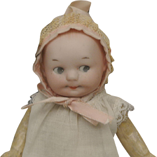 """6 1/2"""" Antique Googly by Ernest Heubach Character Baby"""