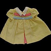 Vintage Tagged Chatty Cathy Mattel Yellow School Days Dress