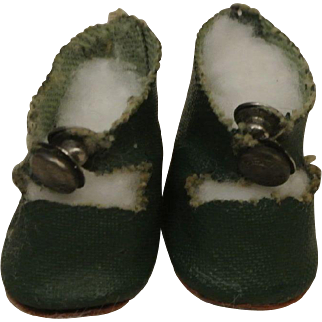 Vintage Ginny, Muffie Green Centersnap Shoes