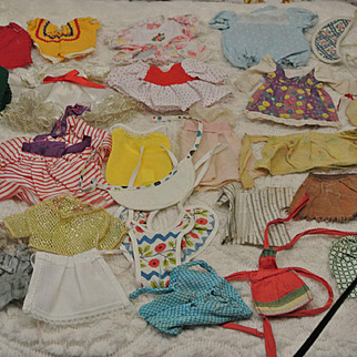 Vintage Lot of Small Size Doll Clothes-Ship Included