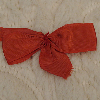 Vintage Red Ginny Hair Bow