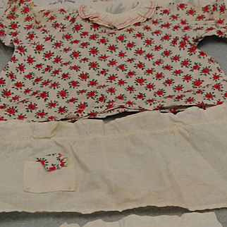 1963 Raggedy Ann Knickerbocker Musical Doll Outfit Tagged