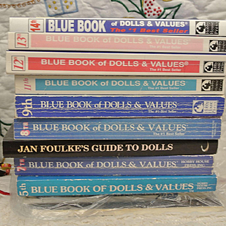 10 Blue Books of Dolls and Values by Jan Foulke