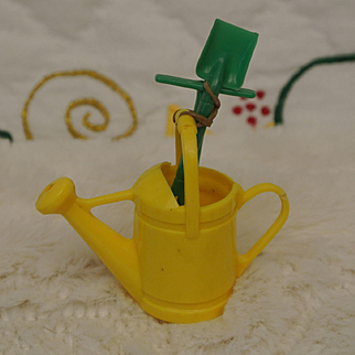 Vintage Rare Watering Can with Tools
