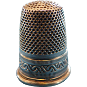 Antique French Sewing Thimble Sterling Silver 19th (3)