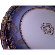 LAYAWAY PLAN  Set of 21 dinner plates, porcelain Sublime Theodore Haviland Limoges France. Antique Cobalt Ranson.