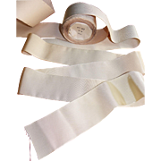 Old french ribbon roll, two-tone rayon.