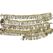 +70 inches French old gold metallic fringe trim passementerie