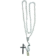 French rosary silver and translucent crystal vintage and new stock # 2