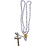 French Rosary gold plated crystal and translucent vintage and new stock # 10