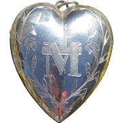Touching Ex Voto in sterling silver dedicated to Mary French 19 th century circa 1872