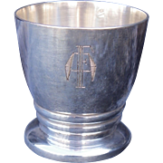 French sterling silver egg cup circa 1930