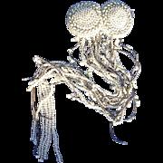 Antique french 19th century bride hair embellishment