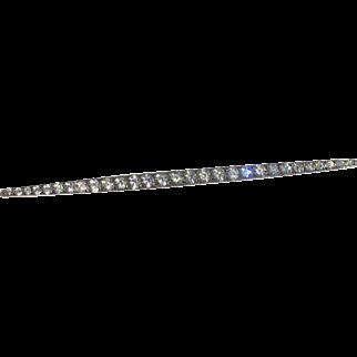 French Art Deco bar brooch pin silver  (800 silver minimum)