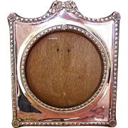 Antique silver photo frame English Edwardian 1906