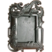 Antique French large picture frame Rococo Gutta percha