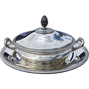 Christofle (french) vegetable covered and flat silverplate.