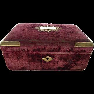 French Napoleon III delicious sewing box, purple velvet