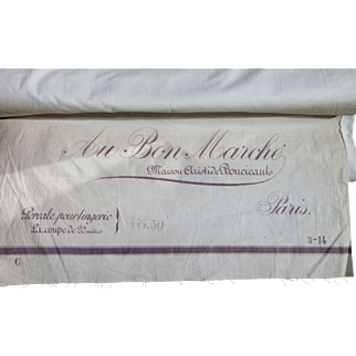 More than 16 yards of fine cotton percale and high quality Au Bon Marché Paris, around 1900
