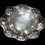 Gorham Sterling Silver Bonbon bowl Art Nouveau Repousse Floral
