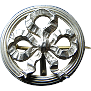French sterling watch pin / medal clip brooch late 19th century