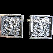 Vintage silver modernist cufflinks