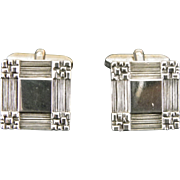 Vintage silver geometric cufflinks