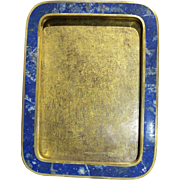 Rare antique photo frame lapis lazuli and gilded bronze 19th century French