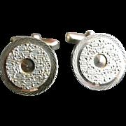 Vintage silver cufflinks French