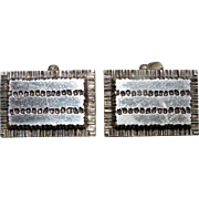 Vintage large silver cufflinks French