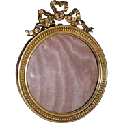 19th century French picture frame brass Louis XVI style