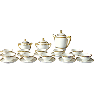 French Art Deco coffee service Limoges Paul Pastaud Circa 1930/1935