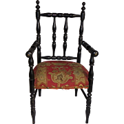 French antique doll armchair 19th century