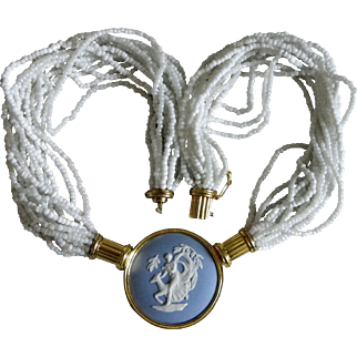 Uncommon Wedgwood necklace and vintage vermeil Circa 1988