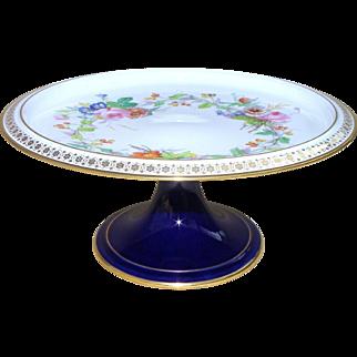 Antique French Sèvres important pedestal plate