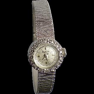 Flamor 18 karat white gold, diamonds watch manual bracelet, French