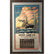 "1944 Calendar ""The Star Spangled Way,"" Hosey Land Company, Charles Champe artist"