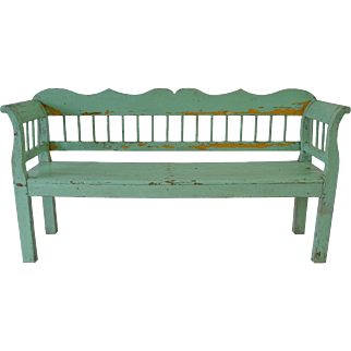 Painted Pine Bench
