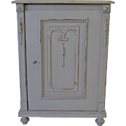 Painted Pine One-Door Cupboard