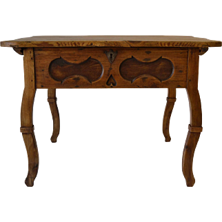 Pine Baroque Revival Centre Table