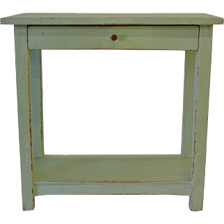 Painted Pine Potboard End Table