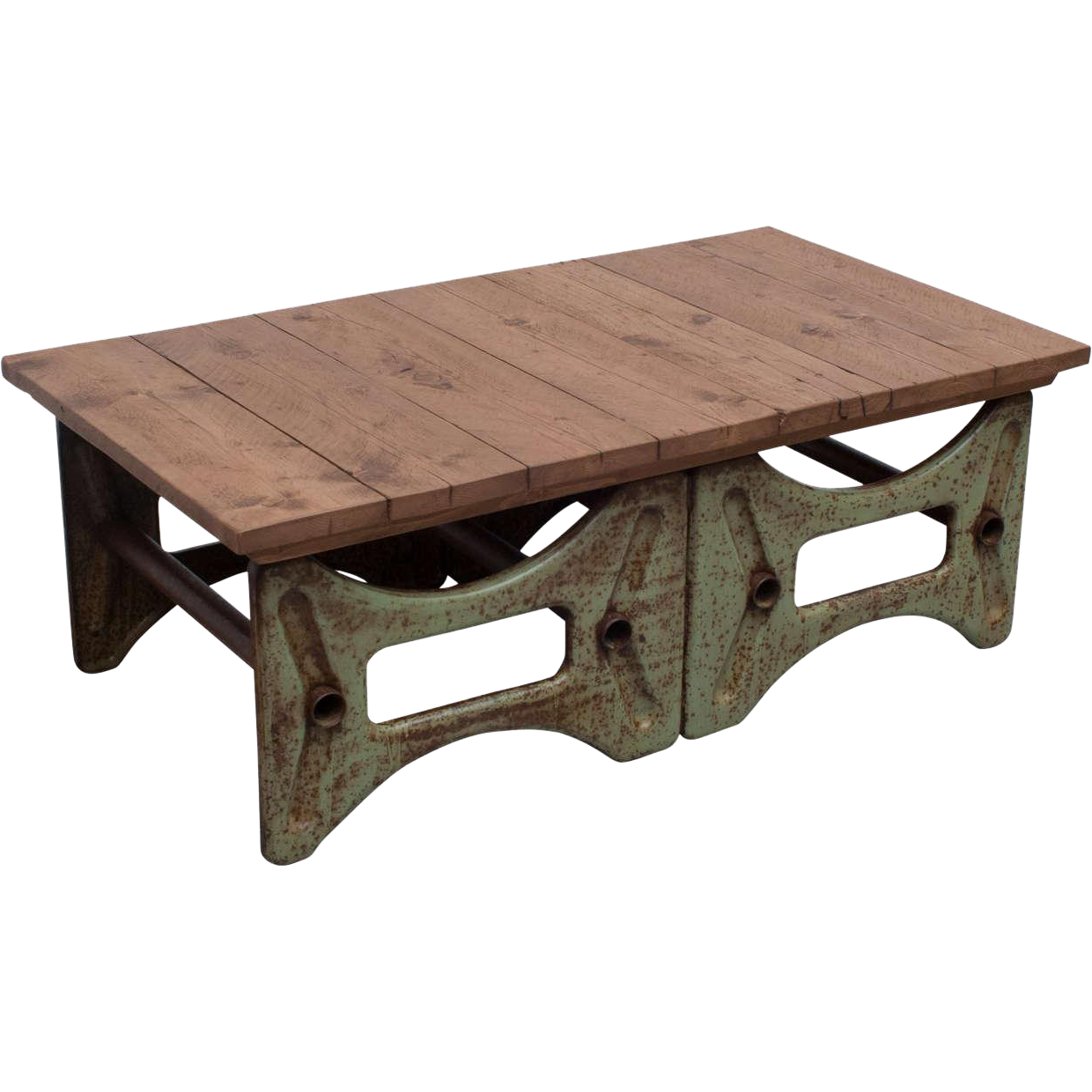 Industrial Base Coffee Table From The-great-british-pine