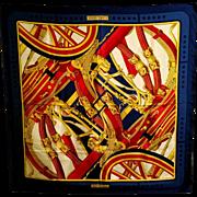30% SALE- Vintage Hermes Paris silk scarf Rythmes 1970 by Cathy Latham