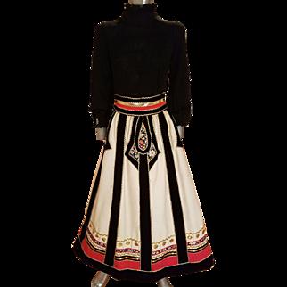 Vintage Rare 1960's Malcolm Starr Caspian Sea Peasant gown designed by Rizkallah