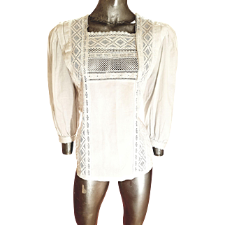 Vintage Rare Escada Hand Embroidered poet Shirt made in Western Germany Amazing